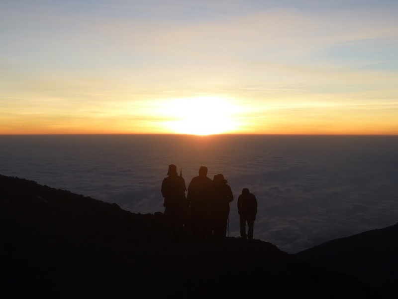 Kilimanjaro, close to the summit