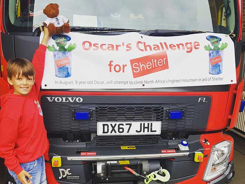 Oscar and the Shelter Truck
